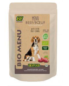 Biofood Organic Hond Rund Menu Pouch 150 Gr (verpakt per 15)