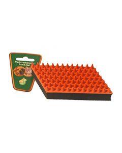 Boon Rubber Massageborstel Oranje / Zwart 13 Cm