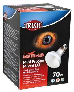 Trixie Reptiland Mini Prosun Mixed D3 Uv-b Lamp Zelfstartend 70 Watt 8x8x10,8 Cm