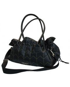 Croci Hondentas Zwart Leder 40x22x27 Cm