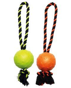 Happy Pet Tough Toys Ball Tugger