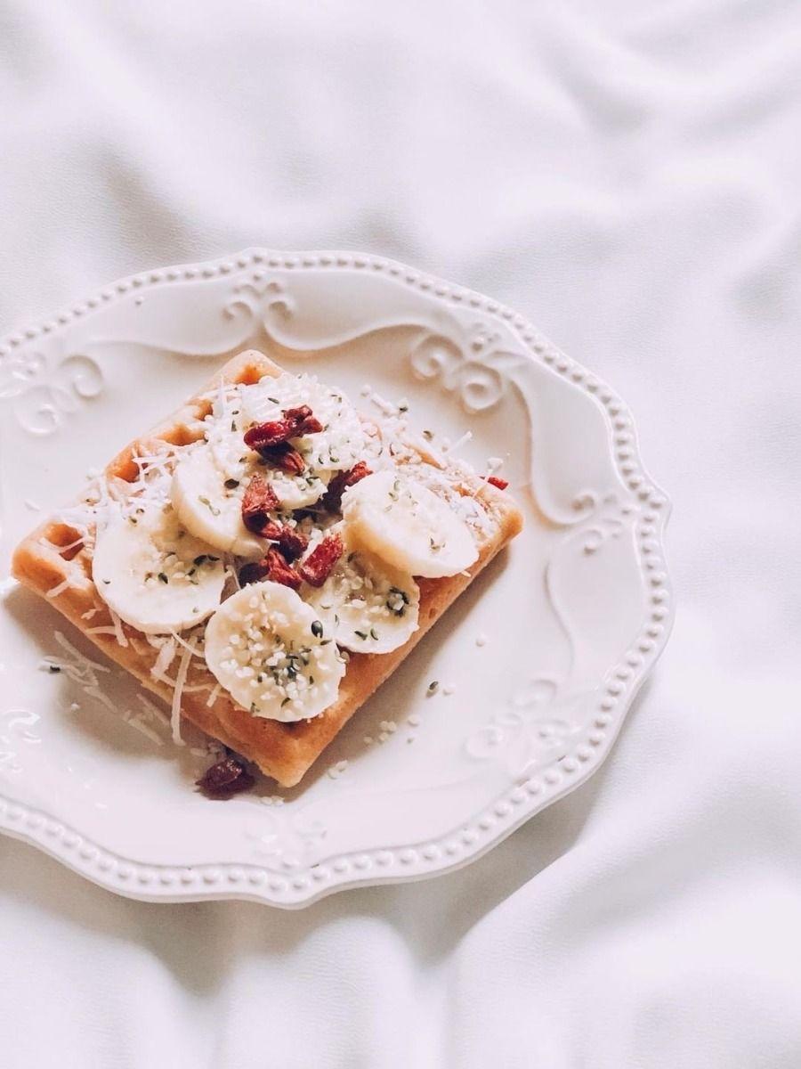 Waffles con proteína sabor pie de manzana
