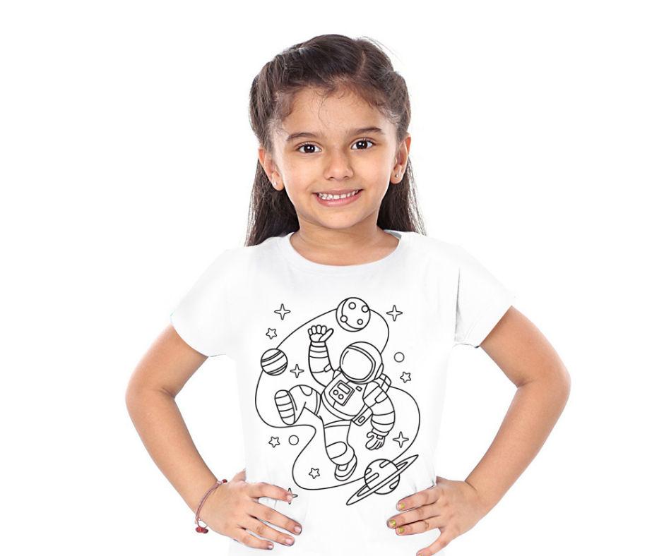 Kit Camiseta Astronauta