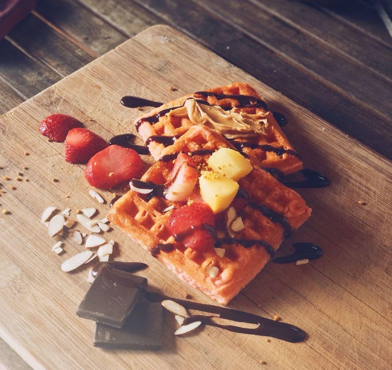 Waffles con proteína sabor naranaja holandesa