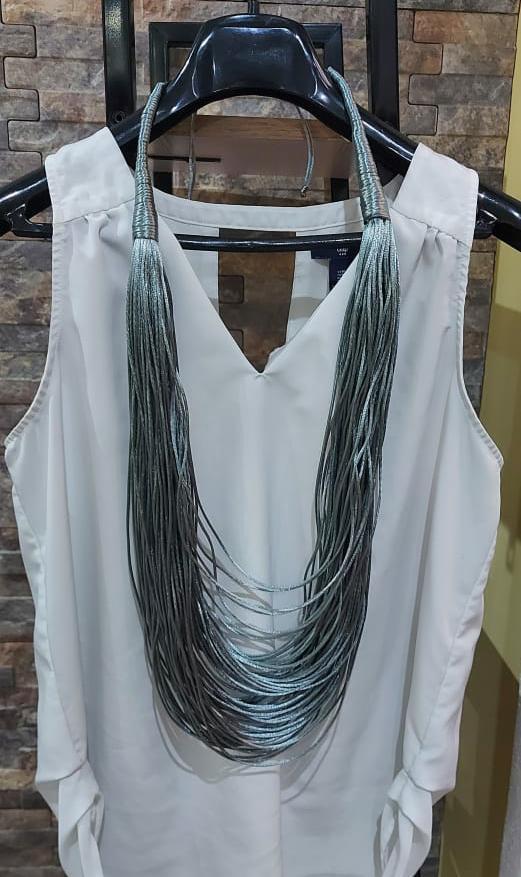 Collar textil largo
