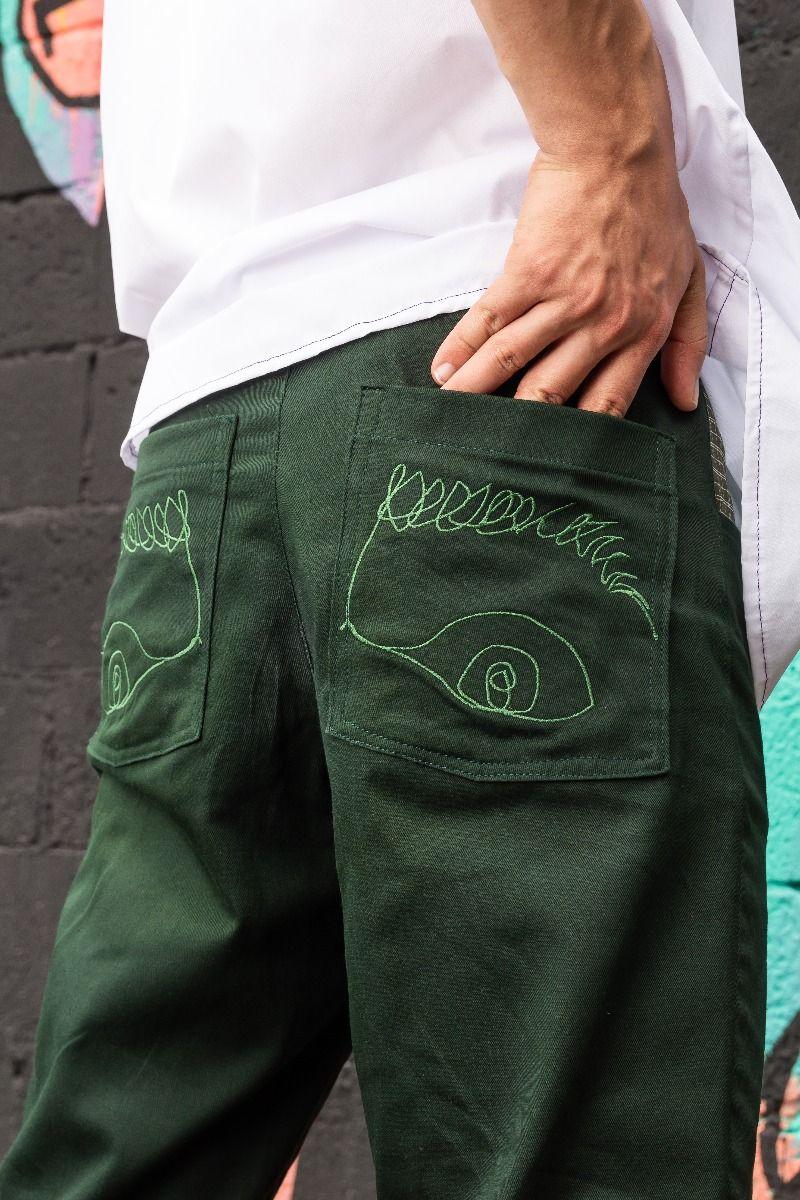 Pantalón Ophelia Verde Oscuro