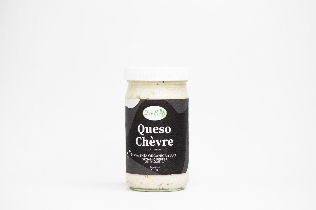 Queso Chevre Pimienta orgánica y Ajo