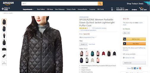 Amazon Women Jacket Product