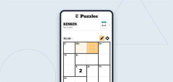 The New York Times Ken Ken puzzle