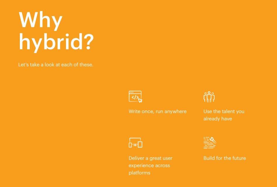 why hybrid app development