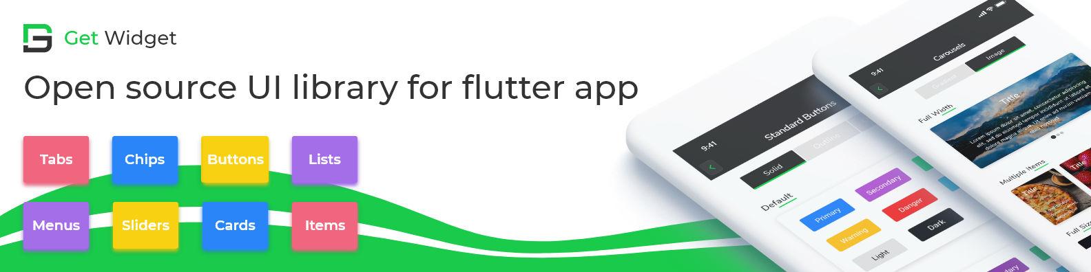GetWidget - An opensource library for Flutter UI