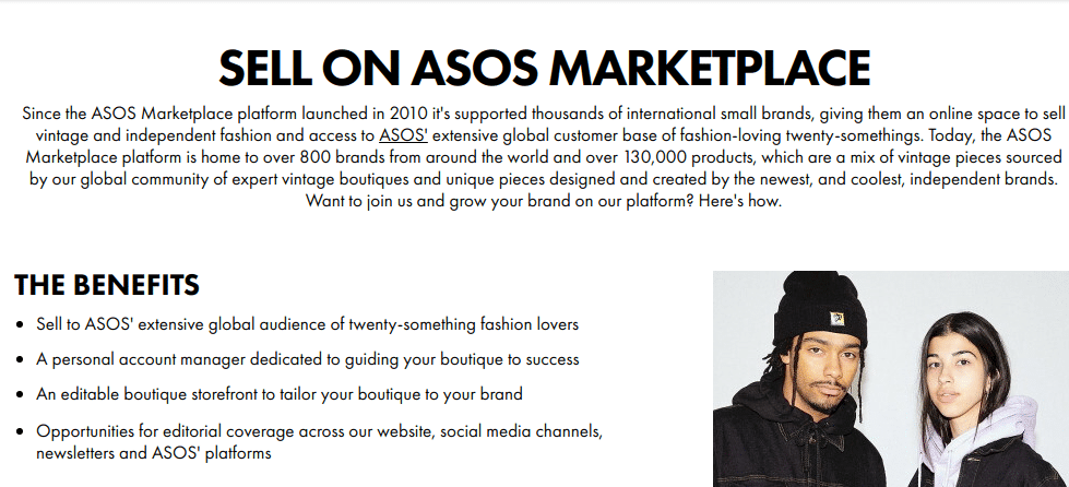 Sell on ASOS MARKETPLACE