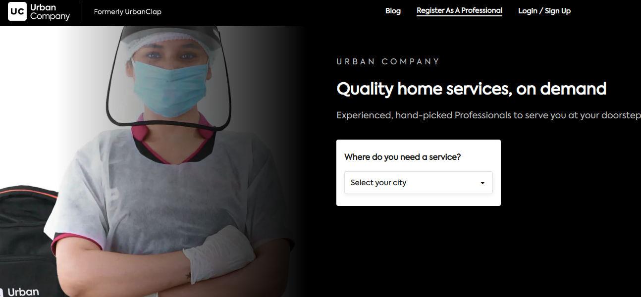 urbancompany website