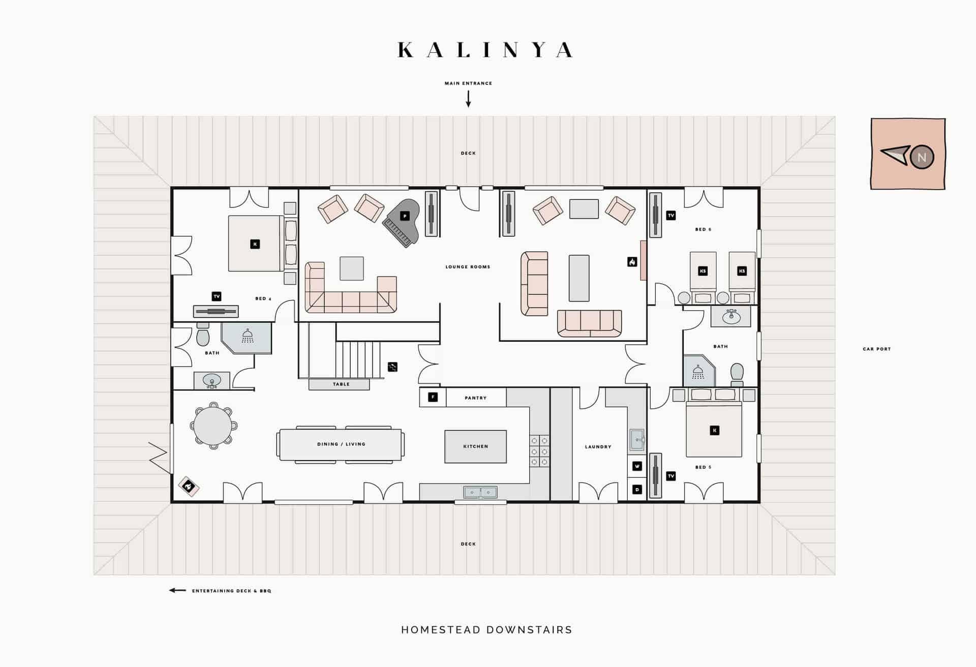 homestead downstairs floorplan