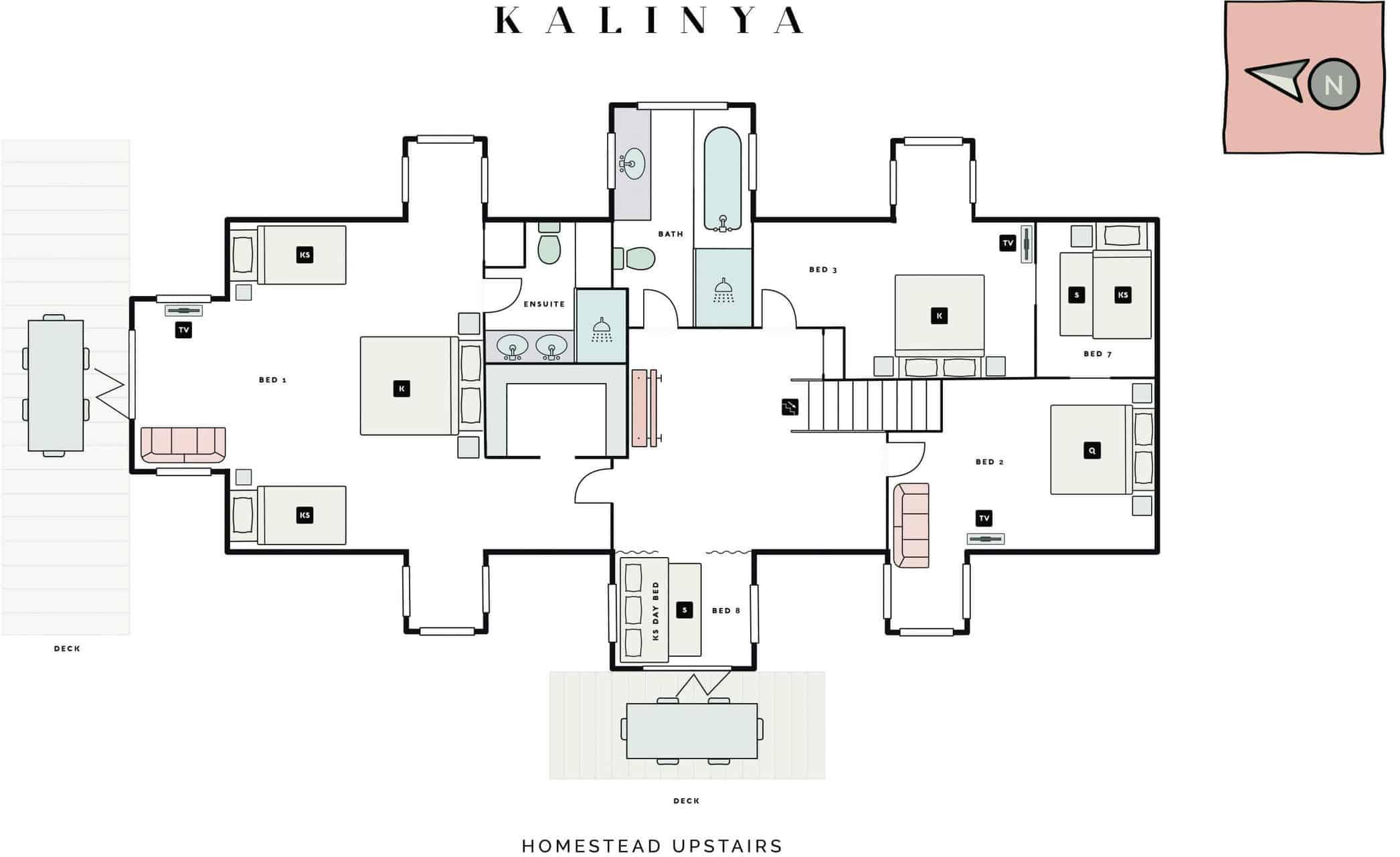 homestead upstairs floorplan