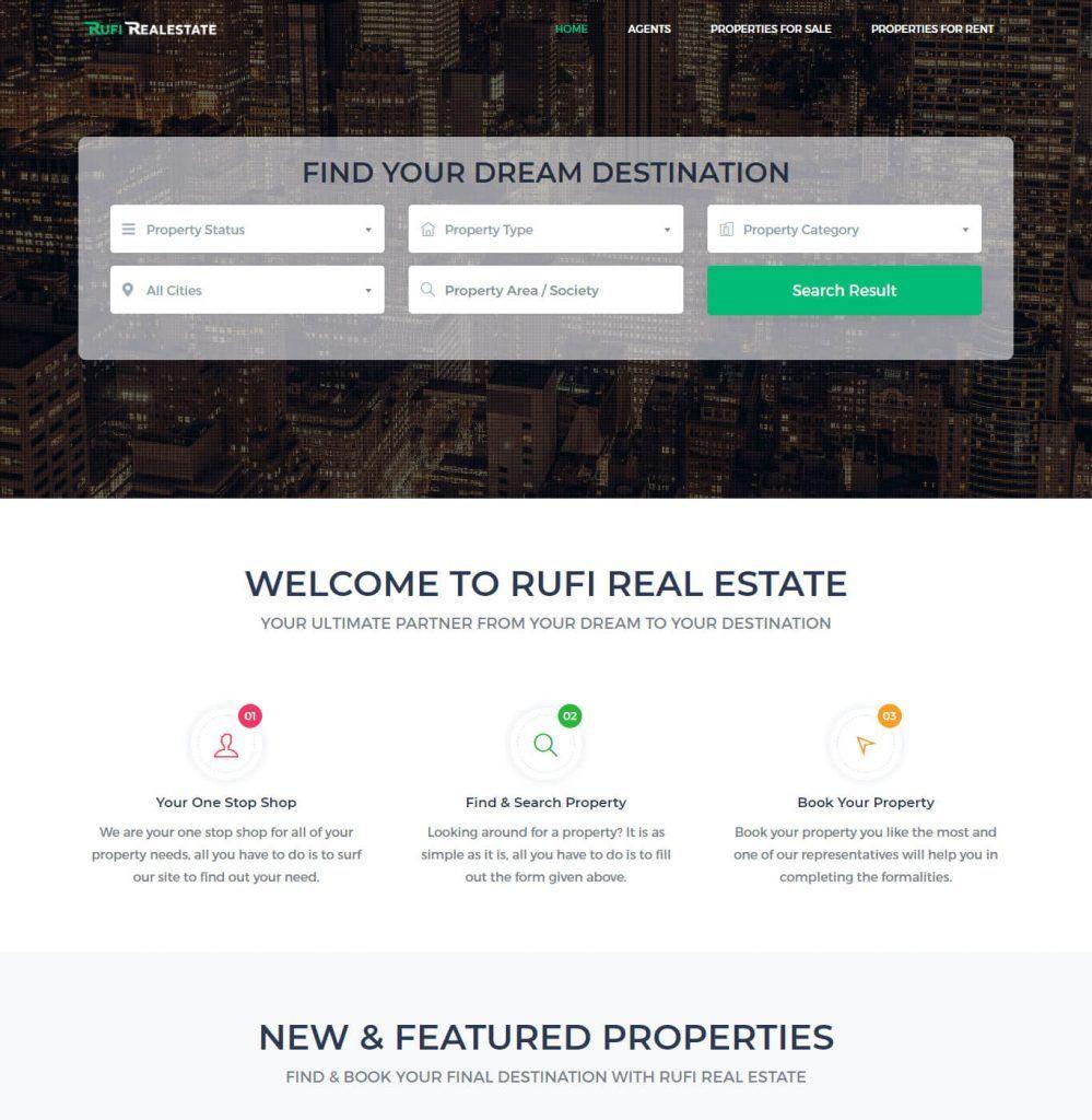 Rufi Real Estate - Web Designing