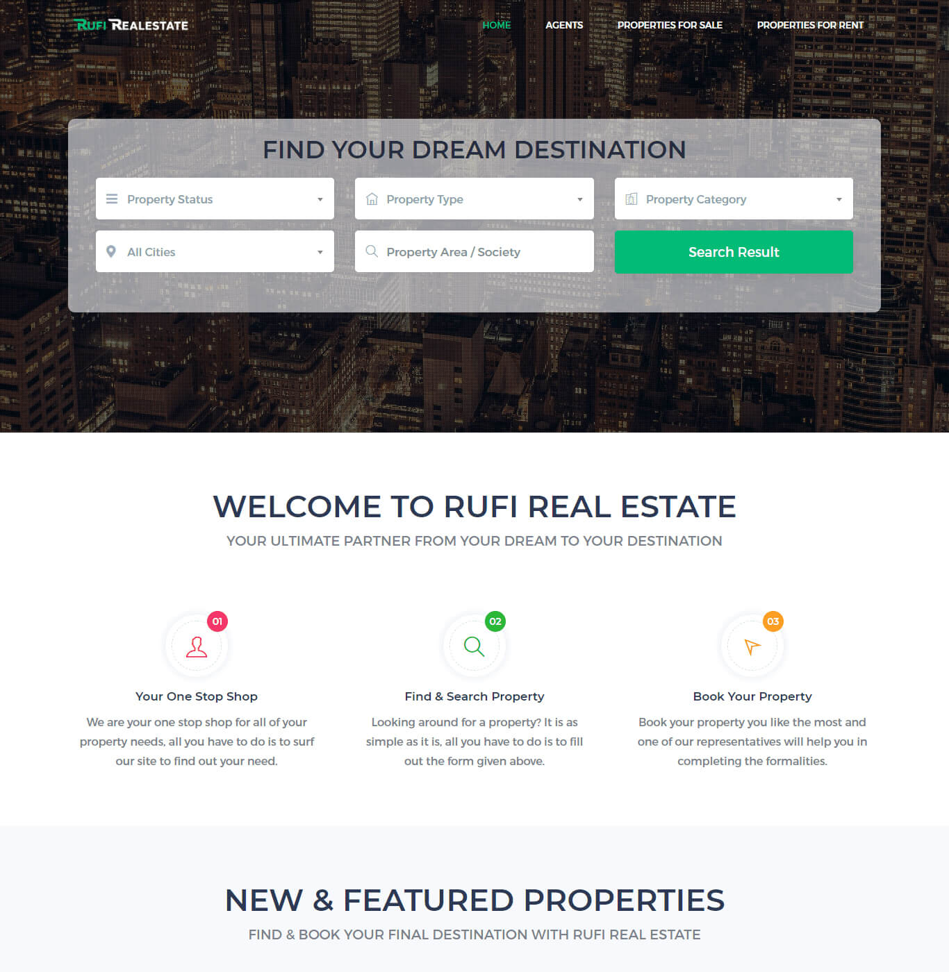 Rufi Real Estate - Web Designing