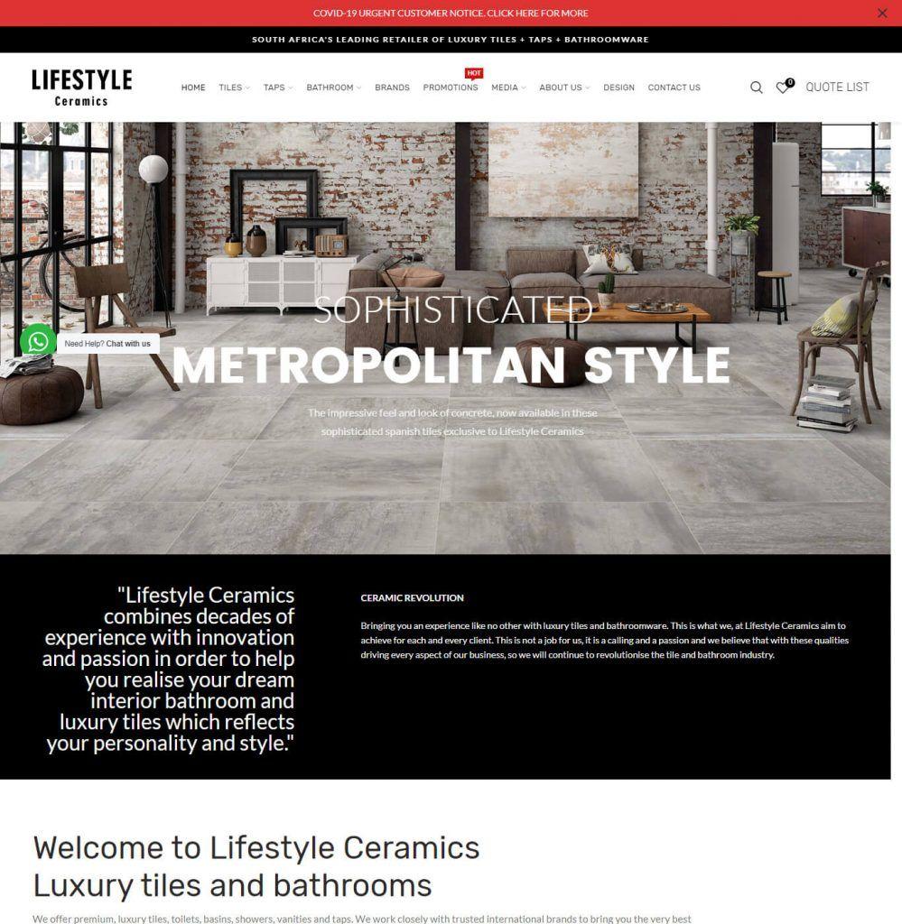 Lifestyle Cyramics - Web Designing, WordPress Web Development