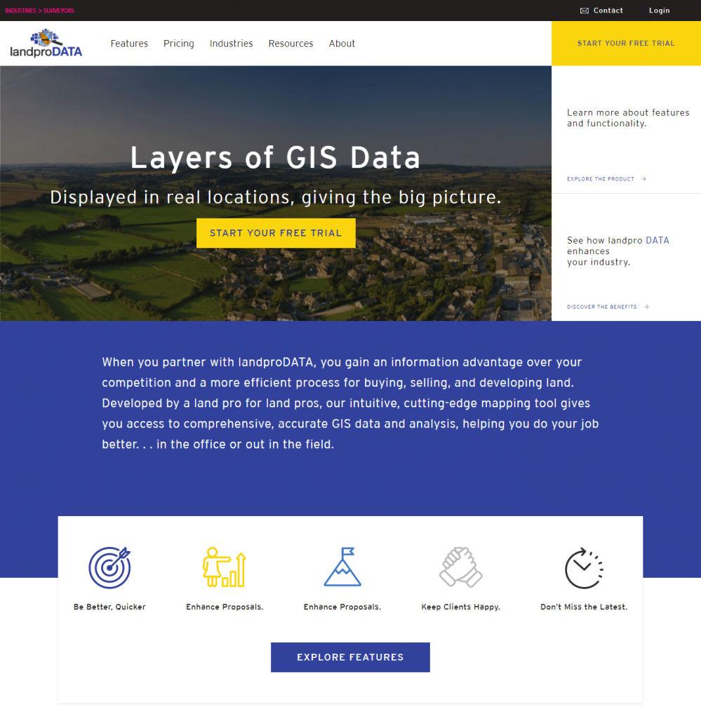 Landpro Data - Web Designining