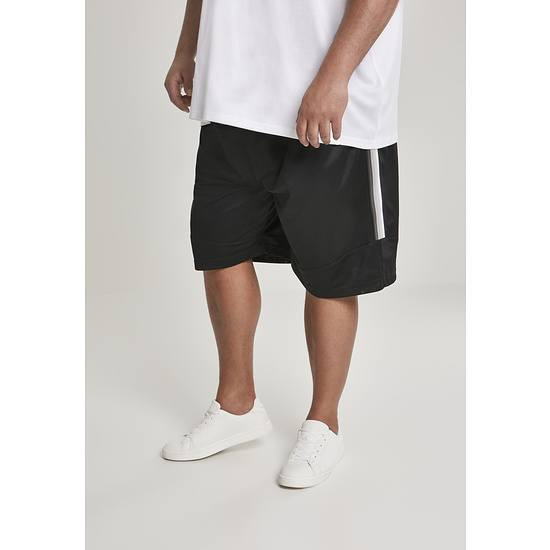 URBAN CLASSICS Shorts Side Taped Mesh schwarz/grau