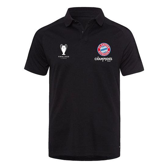 FC Bayern München Poloshirt CHAMPIONS 2020 Schwarz
