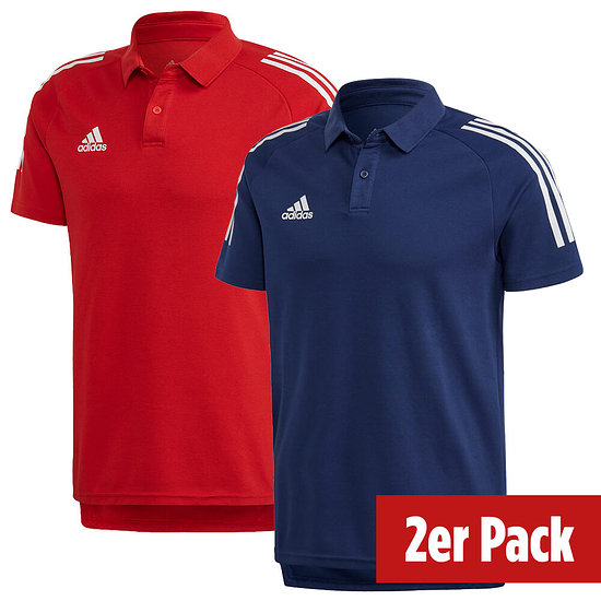 Adidas 2er Set Poloshirt Condivo 20 Dunkelblau/Rot