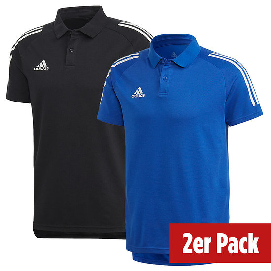 Adidas 2er Set Poloshirt Condivo 20 Schwarz/Blau