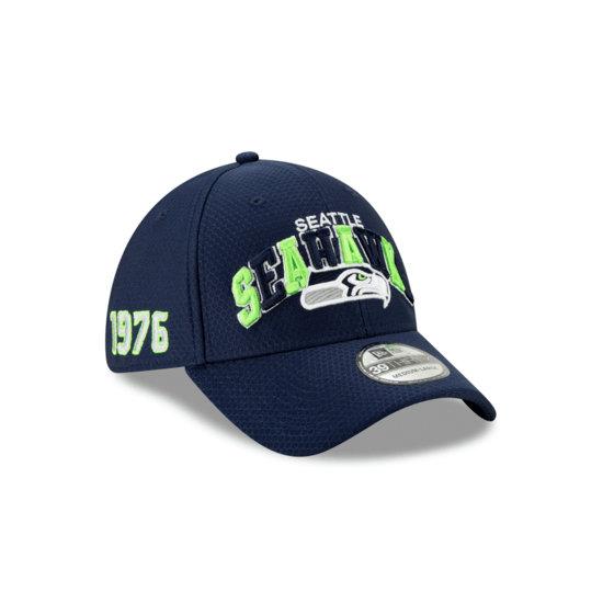 New Era Seattle Seahawks Cap Sideline HM 39THIRTY blau