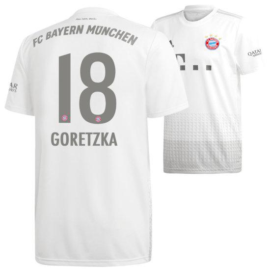 Adidas FC Bayern München Auswärts Trikot 2019/2020 GORETZKA