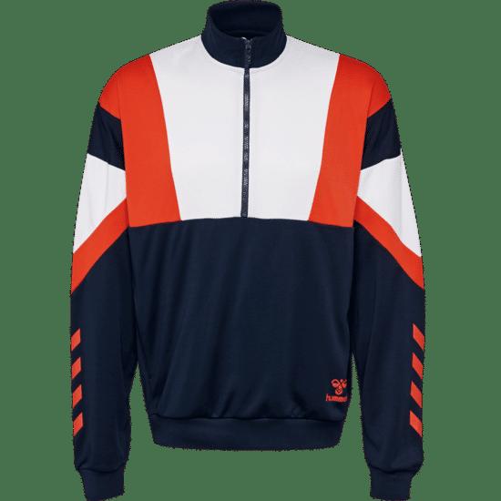 hummel Sweatshirt Draco Half-Zip schwarz/weiß/orange