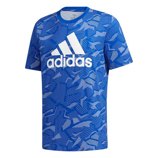 Adidas T-Shirt PUZZLE Blau