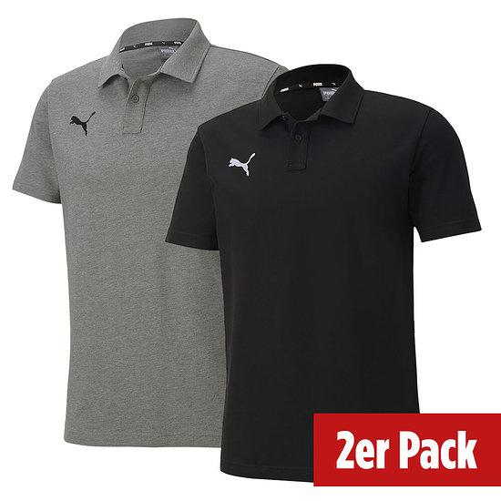 Puma 2er Set Poloshirt GOAL Freizeit Schwarz/Grau