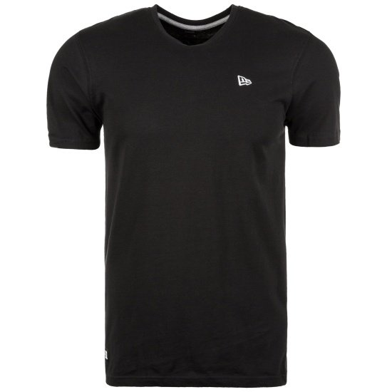 New Era T-Shirt Emblem schwarz