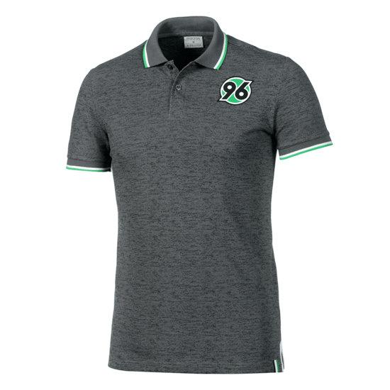 Macron Hannover 96 Poloshirt Fan Line grau/grün