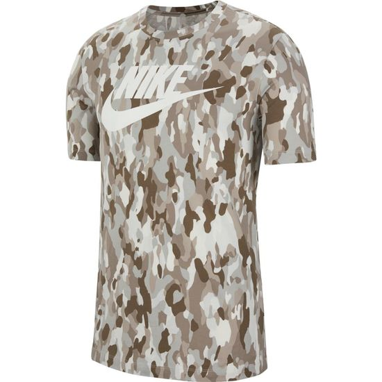 Nike T-Shirt CAMO Swoosh Beige
