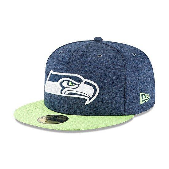 New Era Seattle Seahawks Cap 59FIFTY Sideline Home blau/grün