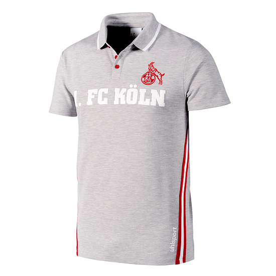 uhlsport 1. FC Köln Poloshirt Sportswear grau/rot