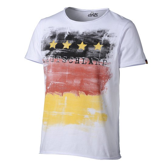 DIRTS T-Shirt Fahne weiß