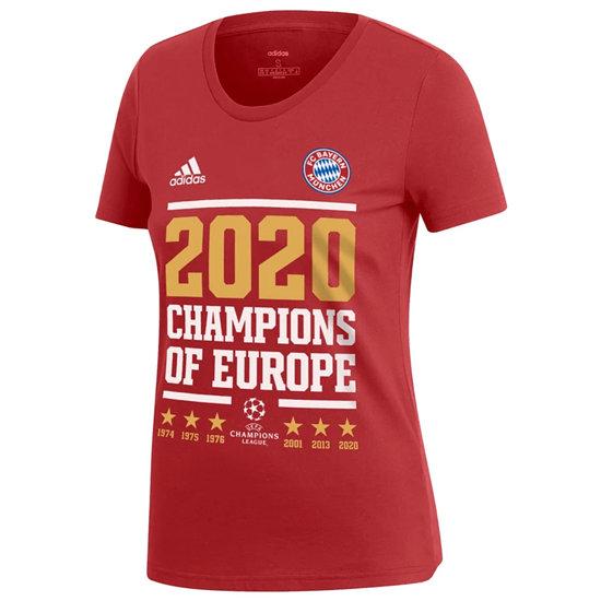 Adidas FC Bayern München T-Shirt CL Sieger 2020 Damen Rot