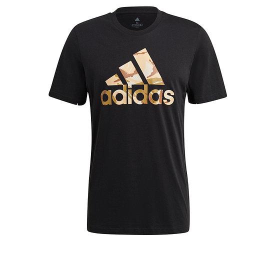 Adidas T-Shirt CAMO 3S Schwarz