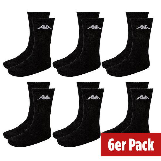 Kappa Socken Sport 6er Pack Schwarz