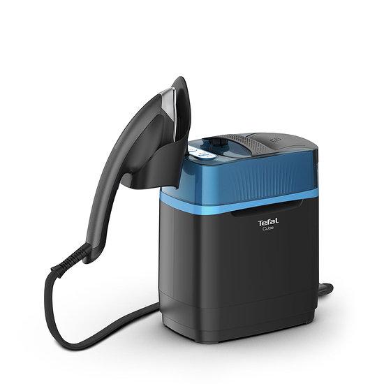 Tefal Hygiene Dampfglätter CUBE BILD Edition schwarz/blau