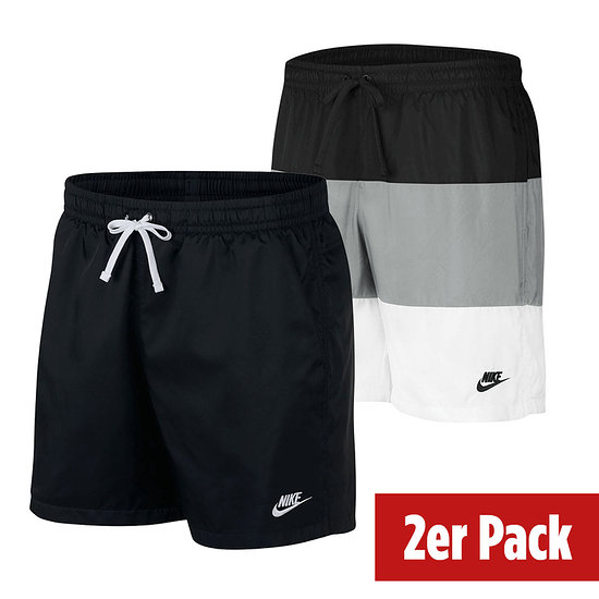 Nike Freizeit- und Badeshorts 2er Set mit 3S Schwarz