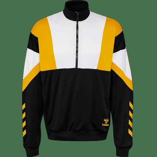 hummel Sweatshirt Draco Half-Zip schwarz/weiß/gelb