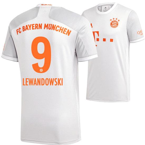 Adidas FC Bayern München Away Trikot Lewandowski 2020/2021 Kids