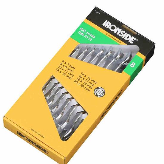 Ironside Doppel-Maulschlüssel- Set 8-teilig gelb