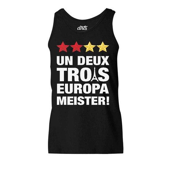 DIRTS Tanktop Un Deux Trois Europameister! schwarz