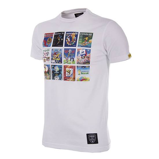 Copa PANINI T-Shirt Collage World Cups weiß