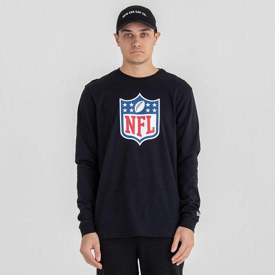 New Era NFL Shield Longsleeve Logo schwarz