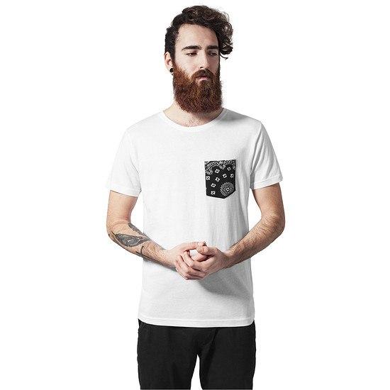 URBAN CLASSICS T-Shirt Contrast Pocket Weiß/Schwarz